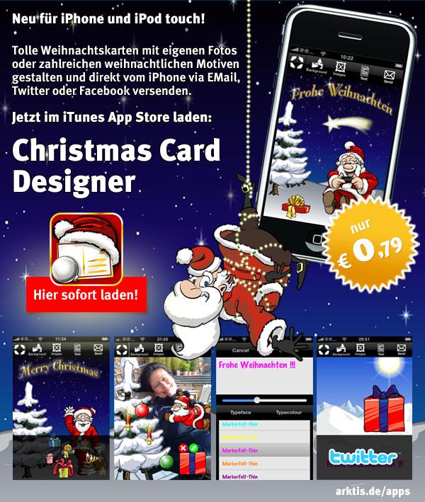 Christmas Card Designer für nur 0,79 Euro im App Store