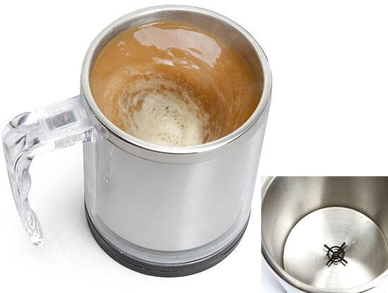 ... oder einem Kaffeebecher, der sich selbst umrührt?