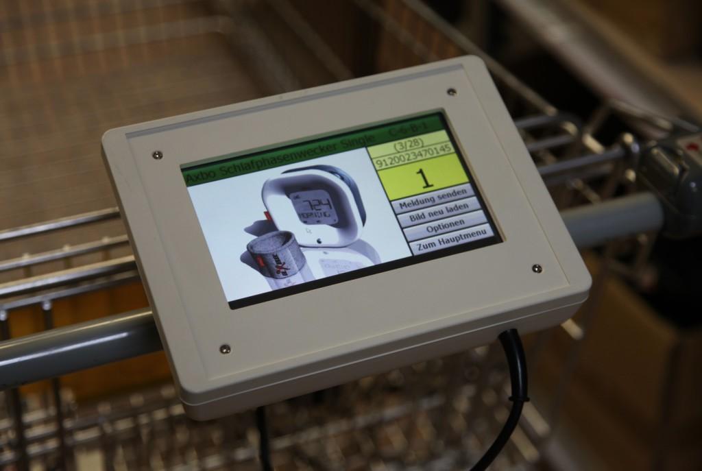 Mehrfach Lagerplatzbelegung möglich dank Tablet am Einkaufswagen