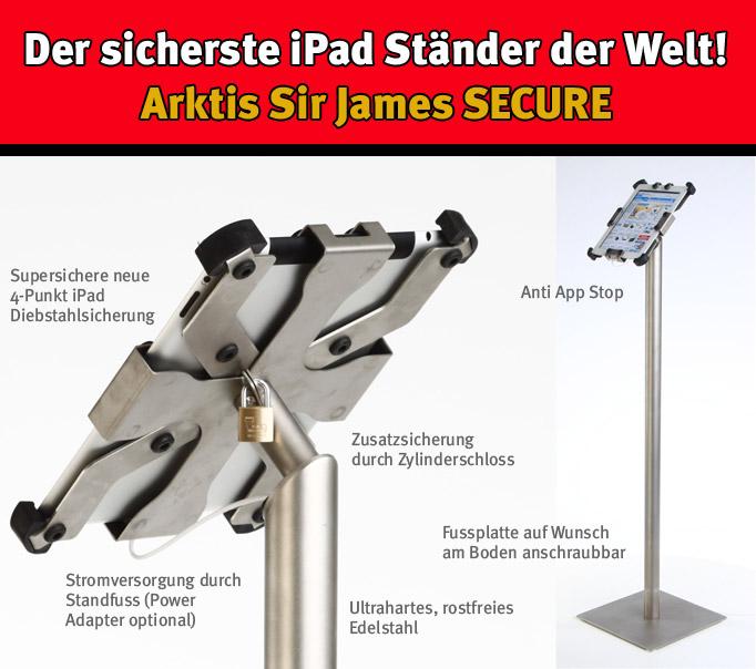 Der sicherste iPad Ständer der Welt von arktis.de