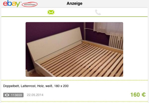 die ebay anzeige des monats blog. Black Bedroom Furniture Sets. Home Design Ideas