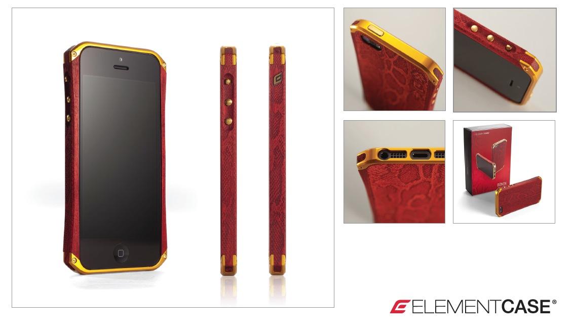 sneak preview der element case snake iphone 5 h lle. Black Bedroom Furniture Sets. Home Design Ideas