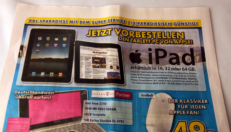 Euronics bietet das iPad an, obwohl Apple seine Händler zurückgepfiffen hat...