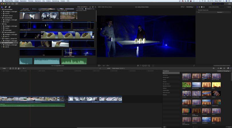 Wir schneiden unsere Filme mit Final Cut Pro X auf einem Apple Mac Pro