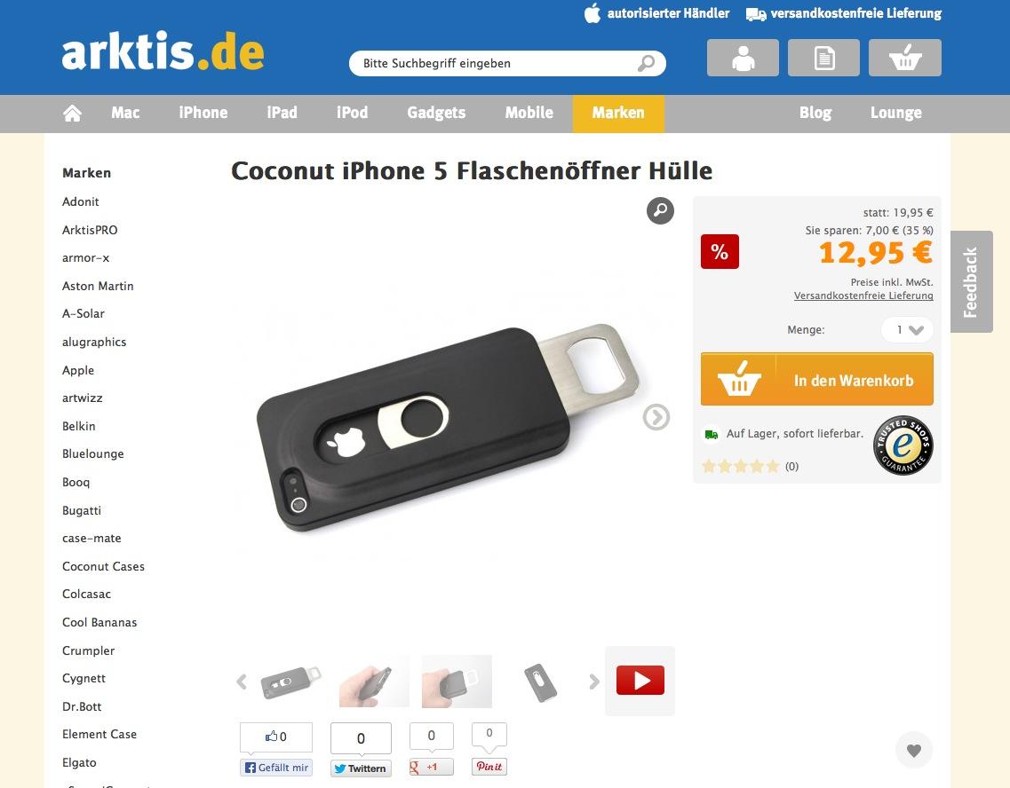 Flat Design Webshop von arktis.de