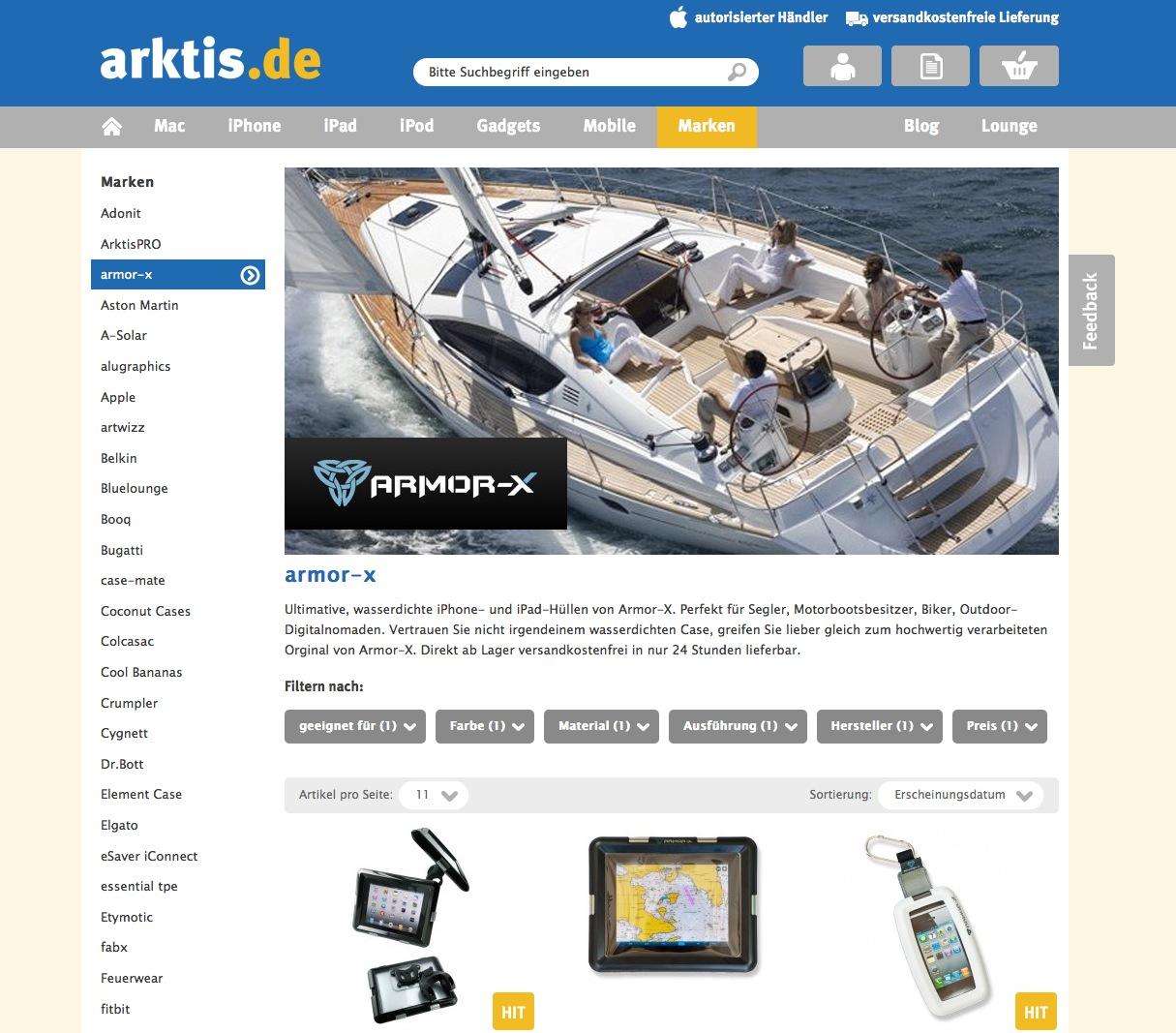 Markenshops auf arktis.de