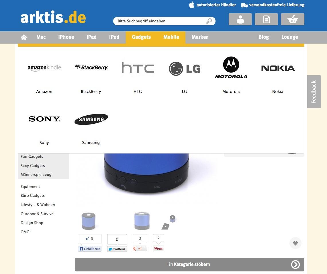Der neue arktis.de Webshop im Flat Design