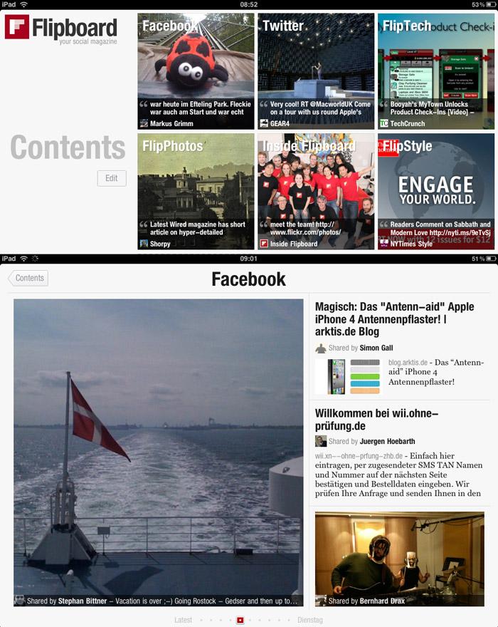 Mit der Flipboard iPad App erhaltet Ihr Euer eigenes Boulevardmagazin!