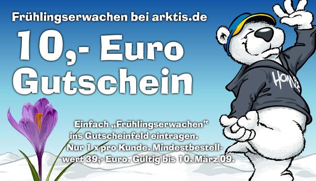 Fetter Gutschein - Jetzt 10,- Euro bei arktis.de sparen.