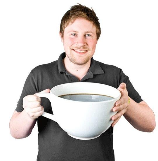 Die weltgrößte Kaffeetasse