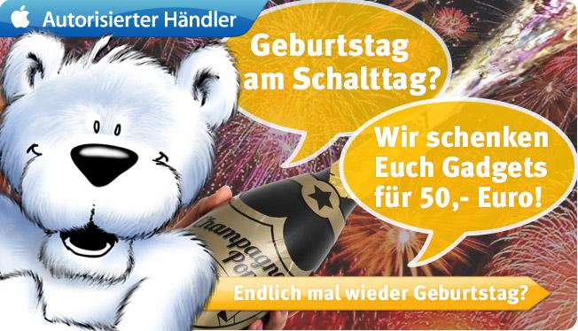 Geburtstag am Schalttag? arktis.de schenkt Euch für 50,- Euro Gadgets!