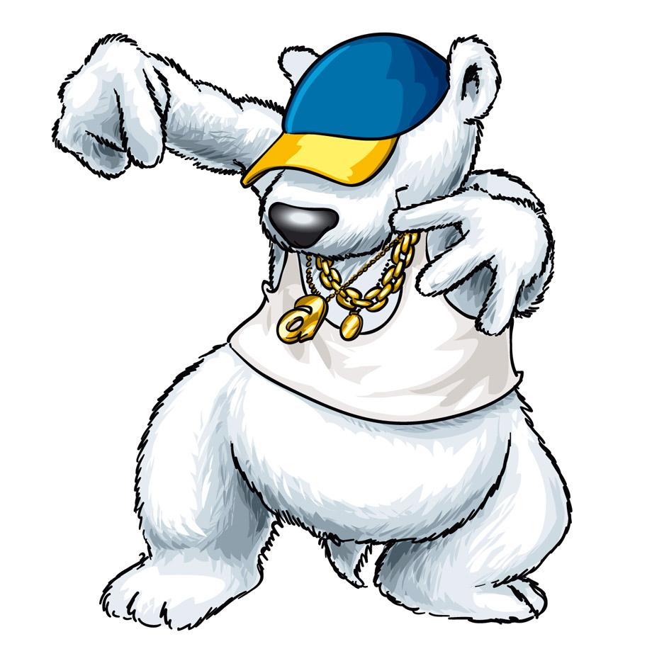 Unser Arktisbär gibt den HipHop Arik ;-)