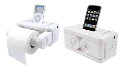 iCarta iPod- & iPhone Toilettenpapierhalterung