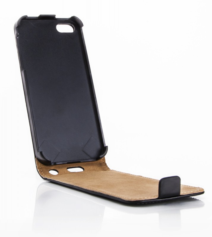 Geöffnetes Mobiletto iPhone 5S Leder-FlipCase