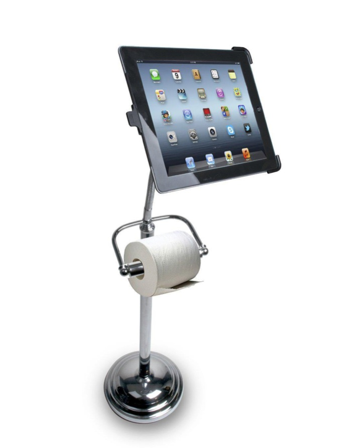 Der iPad Kloständer inkl. Klorollenhalter