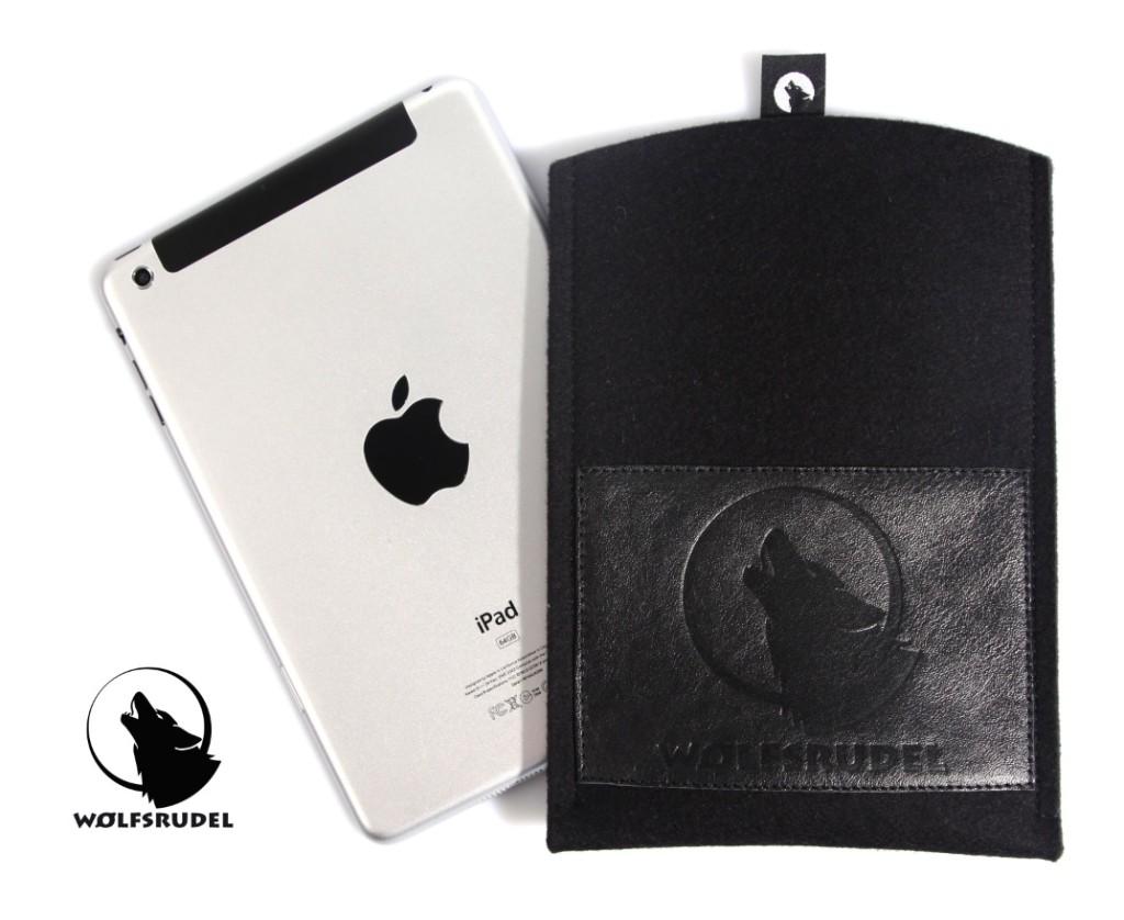 Wolfsrudel iPad mini Tasche Schwarz