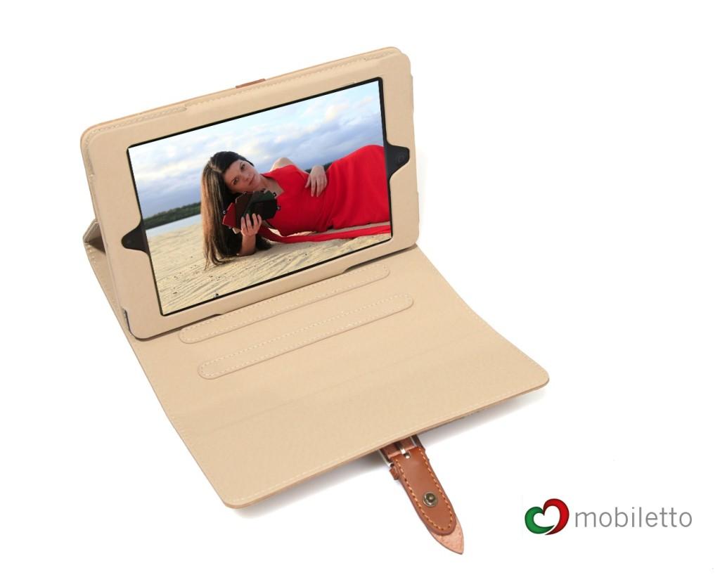 Mit praktischer Aufstellerfunktion - iPad mini Etuis von Mobiletto