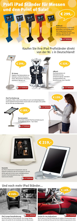 Thema in der Lounge: iPad Ständer für den Point of Sale und Messestände