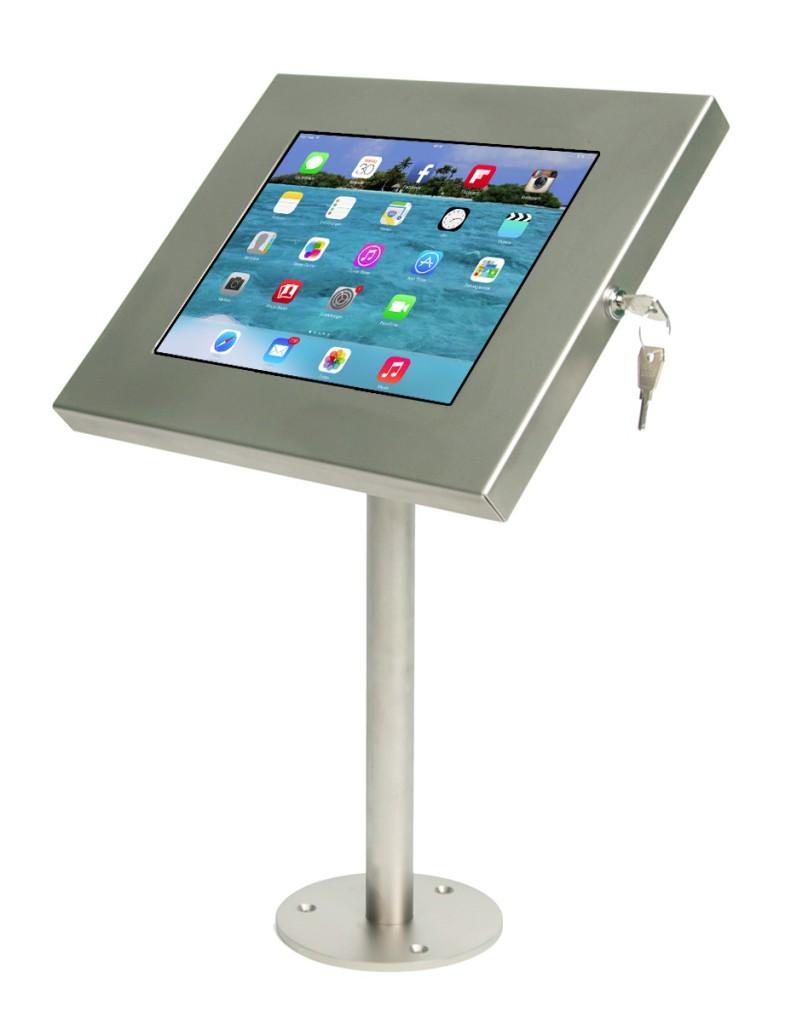 Diebstahlsicher: Die neue Sir James iPad Tischhalterung