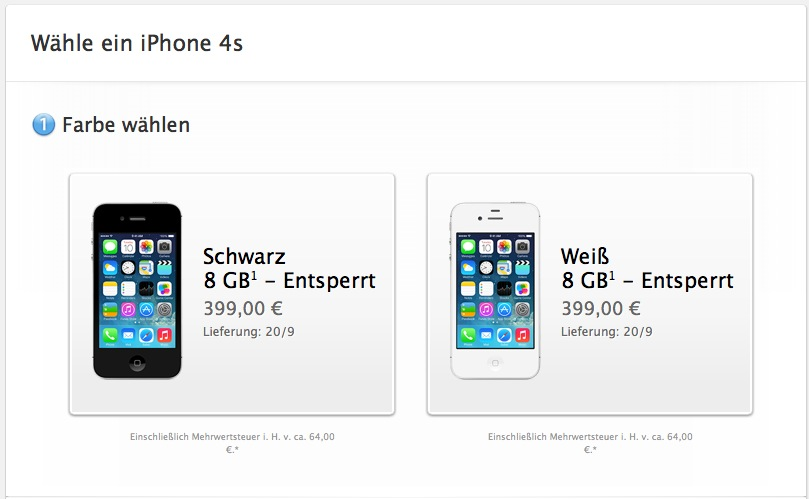 iphone 4s f r 399 euro da habt ihr doch euer billig. Black Bedroom Furniture Sets. Home Design Ideas