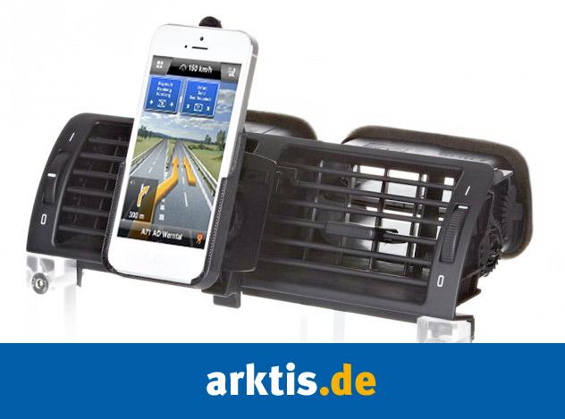 Immer freie Sicht auf die Fahrbahn dank xMount iPhone 5 Lüftungsgitter Halterung