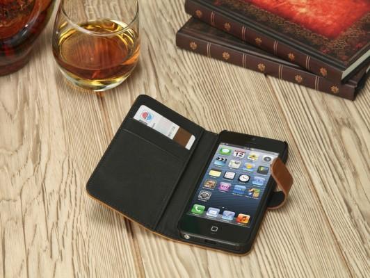 iPhone Ledertasche mit praktischen Staufächern
