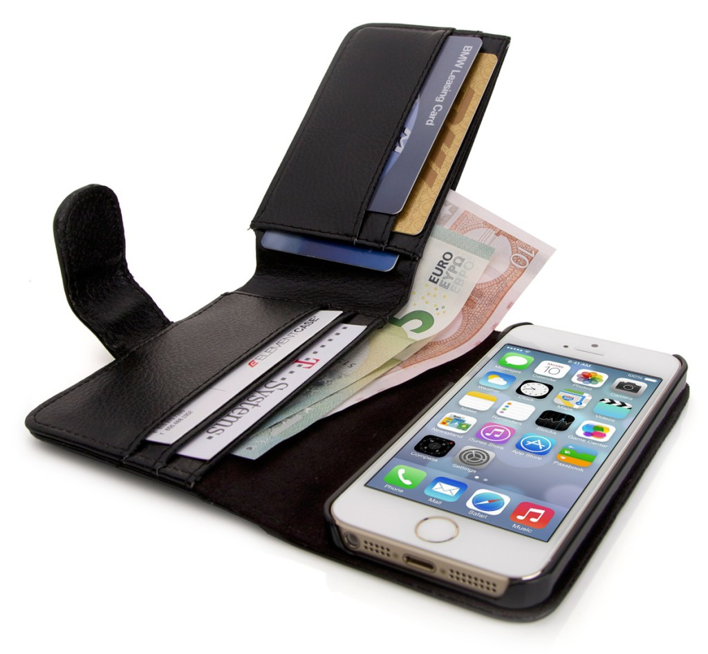 iPhone 5s Hülle inkl. Geldbörse