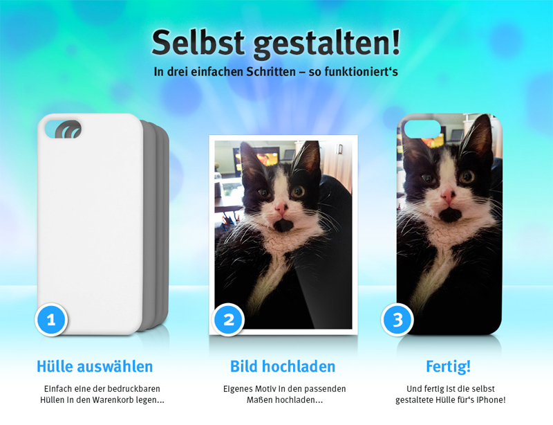 NEU: iPhone Hüllen selbst gestalten auf arktis.de