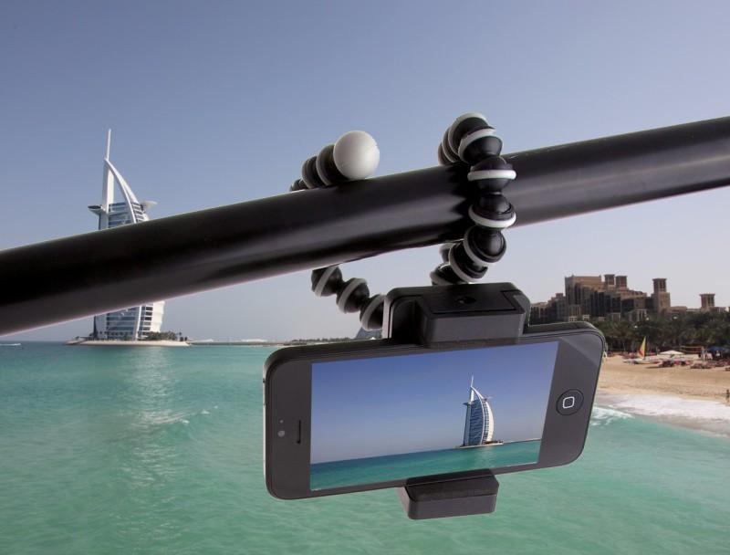 Perfekt für den Urlaub, die ArktisPRO iPhone Reise Halterung