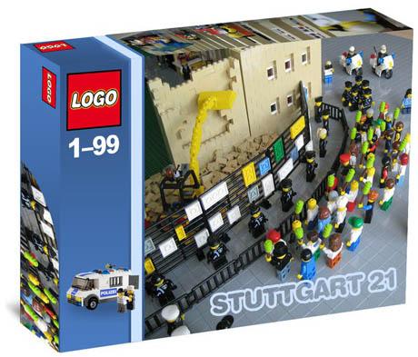 Stuttgart 21 als Lego Bausatz
