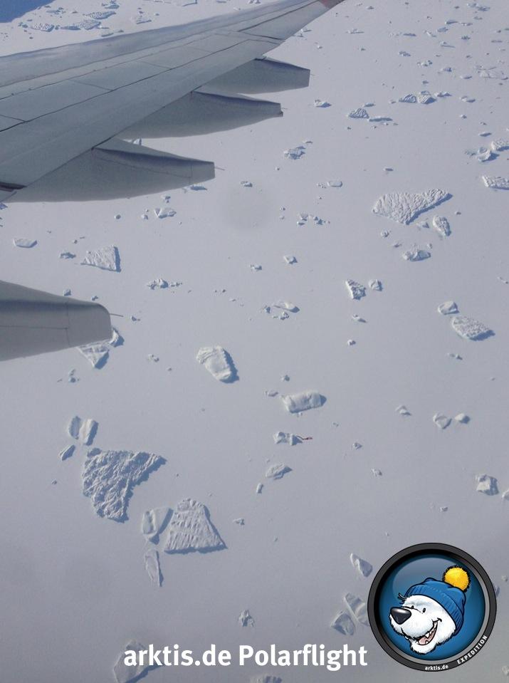 Das Meer vor Grönland - zugefroren