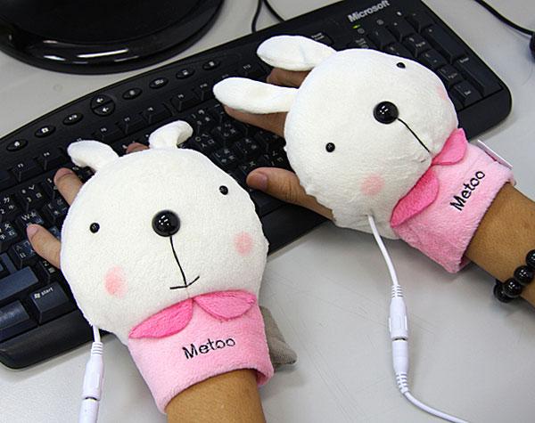 Karnickel-Handschuhe mit USB-Heizung