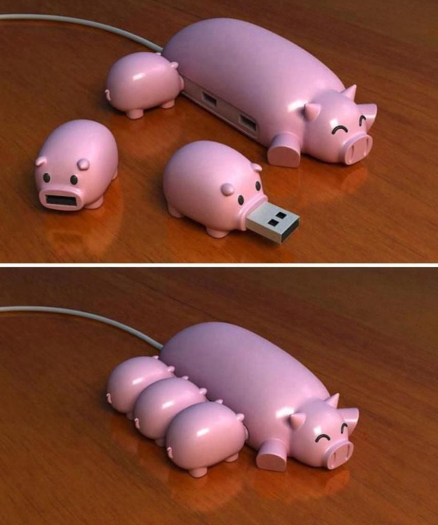 Schweinerei - witziger USB Hub für Macintosh und PC
