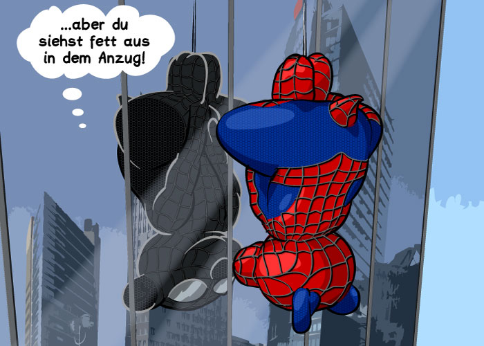 Arik als Spiderman