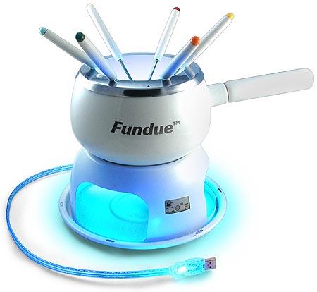 Illuminiertes USB-Fondue Set inkl. LCD Temperaturanzeige