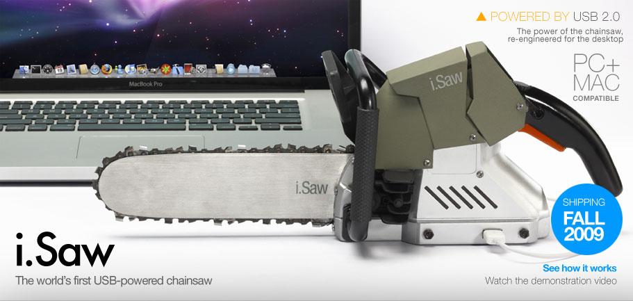 Scharf. Laut. Verrückt. Die USB-Kettensäge für Macintosh und PC