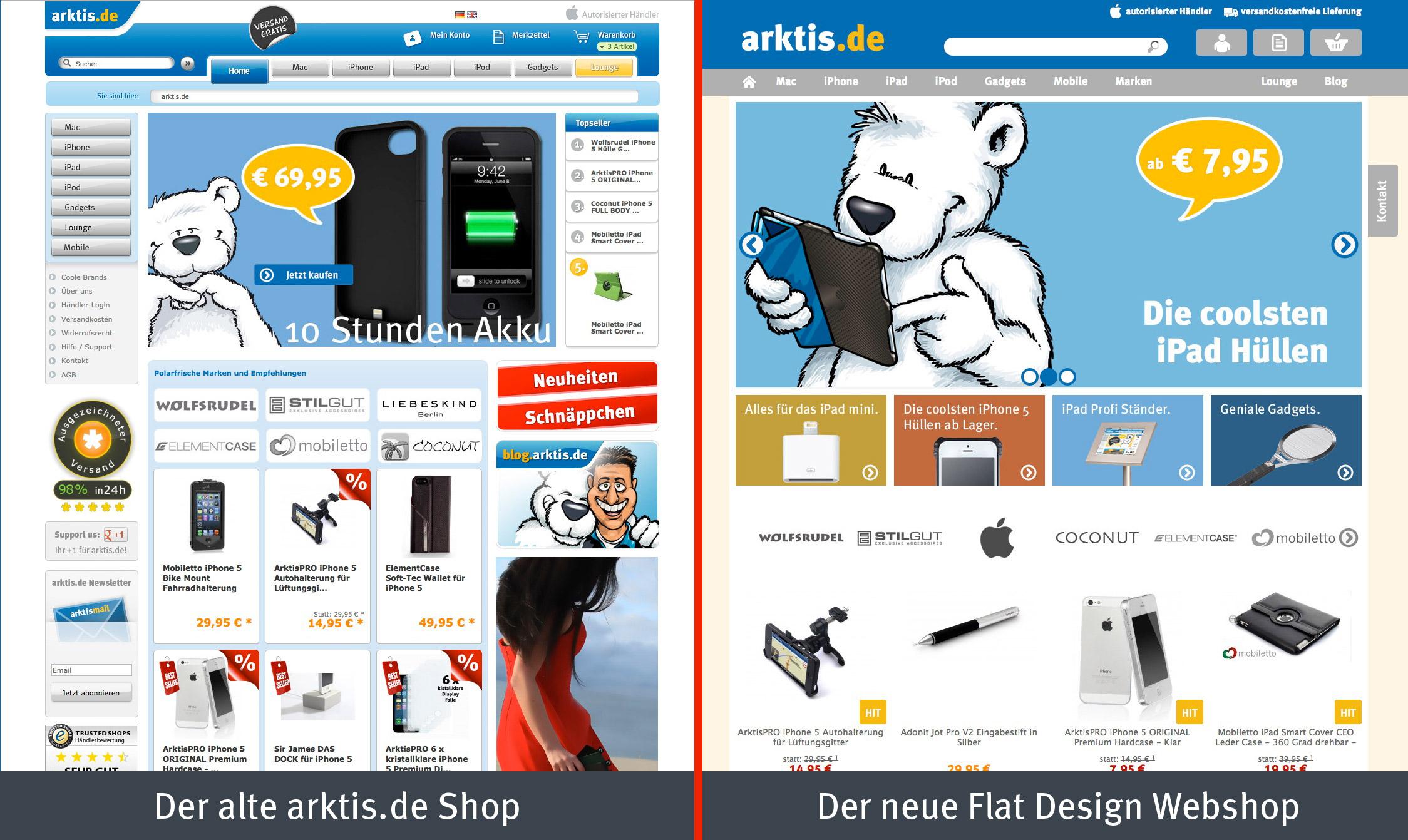 arktis.de vorher / nachher