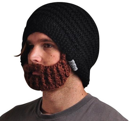 Die coole Bart-Mütze schütz Kopf, Ohren und Gesicht