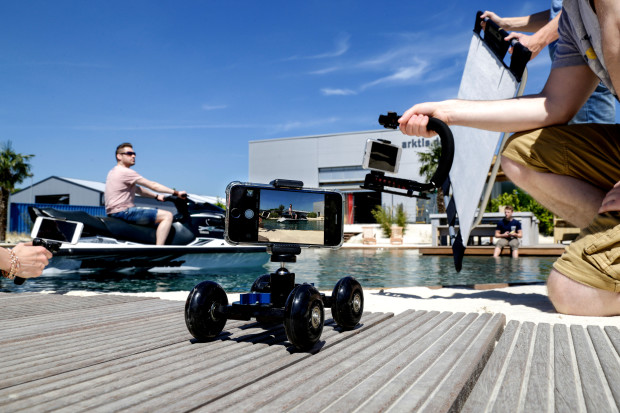 Wolffilms Produkt Shooting am Arktis Beach